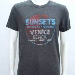 Abbot + Main Grey Sunsets in Venice T-shirt L